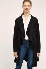 NWT Anthropologie Ruffled Wool Sweater Coat, by Monogram - Black, size M