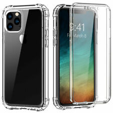 Case with Built-in Screen Protector iPhone 12 Mini 11 Pro Max Hard Cover Clear