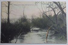 1909 POSTCARD LEATHERWOOD CREEK NEAR QUAKER CITY OHIO SENT TO SCIO OHIO