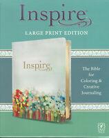 NEW Inspire Large Print Bible New Living Translation NLT Journaling Coloring LP