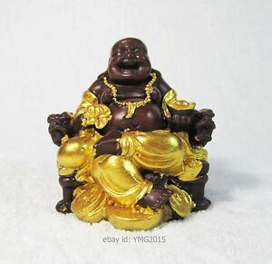 """2.75""""H """" PHRA SANGKATCHAI """" Resin with Gold Color Statue  for Get Wealth"""