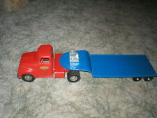 1954 Tonka Toy Round Fender Truck and Low Boy Trailer *Nice* untouched