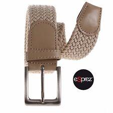Cintura Uomo Intrecciata In Corda Elastica Regolabile Casual Beige Bianco eSprez