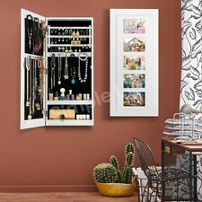 Photo Frame Jewellery Cabinet Makeup Storage Jewelry Organiser Box Wall Mounted