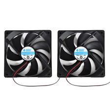 2pcs 120mm 120x25mm 12V 4Pin DC Brushless PC Computer Case Cooling Cooler Fan