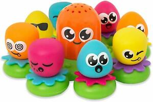 Octopus Family Tomy Bath (t2756) - Octopals Toy Aquafun Baby Toddler Floating