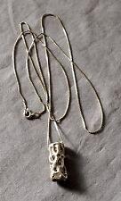 Artisans Original Choya Cactus Life Form Cast Sterling Silver Pendant Necklace