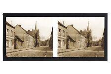 Ville à identifier France Photo D29 Stereo Plaque de verre Vintage 1927