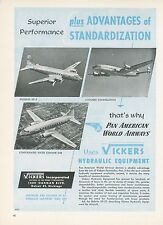 1951 Vickers Pump Ad Pan American Airways Pan Am PAA AIrplanes DC-4 Convair 240