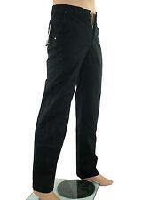 Pantalone uomo nero dritto made italy taglia 44 cotone w 30 bottoni xs