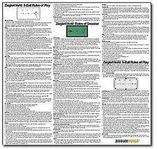 LARGE RULES POSTER - SNOOKER - 8 BALL (EIGHT BALL)  - 9 BALL (NINE BALL ) RULES