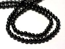 Fil 39cm 114pc env - Perles de Pierre - Spinelle Noir Boules 3.5mm - 87411400124