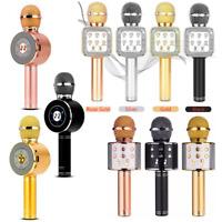 WS858 Wireless Bluetooth Karaoke Microphone Speaker Handheld Mic USB Player KTV