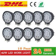 10x 42W lampada LED Faro da lavoro tondo LUCE faretti led barca trattore ATV 12V
