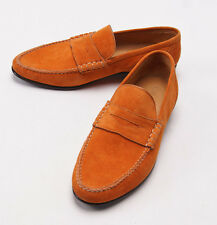 Sutor Mantellassi Shoes Sand suede penny loafers