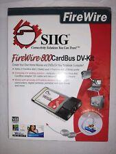 Firewire 800 Cardbus DV-Kit SIIG Factory Sealed