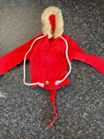 VINTAGE PALITOY ACTION MAN RED ARCTIC EXPLORER COAT VERY GOOD CONDITION FOR AGE
