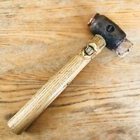 Vintage Thor size 1 copper & rawhide hammer mallet old tool