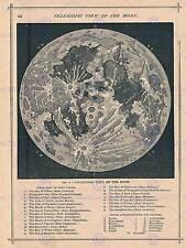 GEOGRAFIA Mappa ILLUSTRATA ANTICO TELESCOPICO MOON Poster Art Print bb4497b