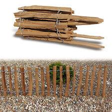 Natürlicher Staketenzaun Haselnusszaun 5m - Höhe 0,5 m Lattenabstand 7-8 cm