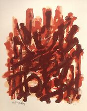 Robert HELMAN (1910-1990) Rare Lithographie Originale XI Originale Signée 1965