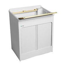 Lavacril lavatoio bianco cm75x50x84h con tavola lavapanni + sifone e troppopieno