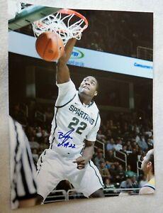 Michigan State Spartans Branden Dawson Signed 11x14 Photo Auto