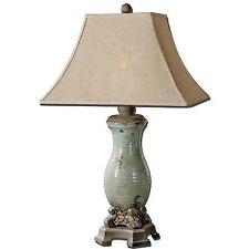 Uttermost Andelle Light Blue Ceramic Metal Table Lamp