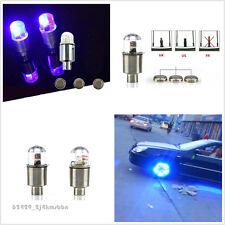 4Pcs Flash Neon LED Motorbike Car Bike Wheel Tire Tyre Valve Cap Lamp Light Bulb