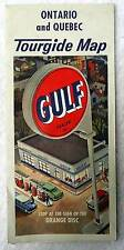 1950's GULF OIL HIGHWAY TRAVEL TOURGIDE MAP OF ONTARIO & QUEBEC CANADA #19
