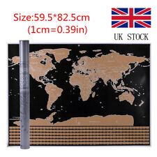 Scratch world maps atlases ebay 5982cm large scratch off world map poster personalized travel vacation log gift gumiabroncs Image collections