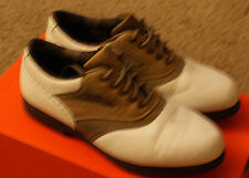 Footjoy Terrains Womens Golf Shoes Size 6.5 Rn 98308 Tan & White