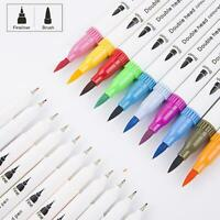 Water-based Double-headed Watercolor Pen Dual Tip Pen Painting Art Marker Pens