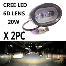 2PCS White 6D 20W CREE LED Motorcycle Bike Offroad Spot Driving Work Light SUV