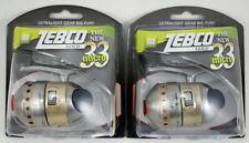 (Lot Of 2) Zebco 33 Micro Gold 4.3:1 Gear Ratio Spincast Reel Clam Pack 21-10526