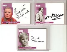 Julie Stevens & John Rollason & Elizabeth Shepard autograph The Avengers cards