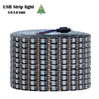 5V LED Strip Light USB RGB Lamp Tape SMD 5050 1M 2M 3M 5M TV Background Home