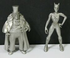 1992 BATMAN RETURNS FINE PEWTER FIGURINES - PENGUIN AND CATWOMAN
