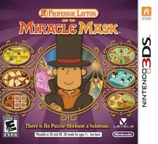 Professor Layton & the Miracle Mask [Nintendo 3DS Mystery Puzzle Adventure] NEW