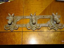 Cast Iron Mule Head Wall Coat Rack