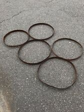 Used Whiskey Barrel Band Hoops, Ring, Stave, Wine Barrel Rustic Repurpose Decor