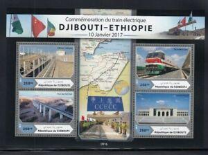 DJIBOUTI Djibouti-Ethiopia Electric Rail Line MNH souvenir sheet