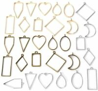 Open Bezel Pendants Charms Resin Molds for Jewelry Findings DIY Pressed Flower