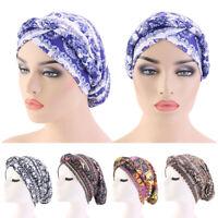 Women Hair Loss Hat Braid Hijab Floral Turban Cancer Chemo Cap Islamic Headwear