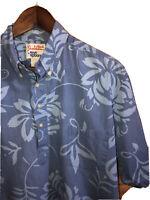 Vintage Alfred Shaheen by Reyn Spooner Hawaiian Print Shirt. USA - Blue - Sz. L
