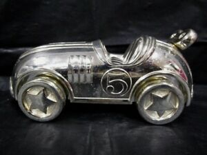 Silver Plated  -  Reed & Barton Race Car Bank With Stopper -  Tarnish Resistant