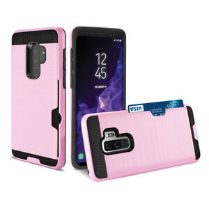 Samsung Galaxy S9 Pink Luxury Card Holder Phone Case hybrid Cover for S9 new box