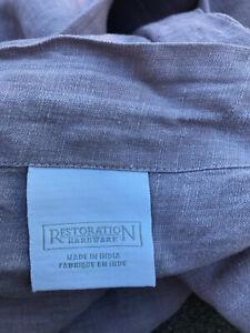 "Restoration Hardware Linen Full Queen Duvet Lavender 70"" x 90"""