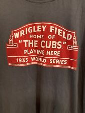 Chicago Cubs Wrigley Field Marquee T-Shirt by Red Jacket, MLB Size Large