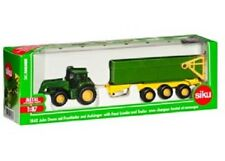 Siku Diecast 1:87 Scale Model 1843 John Deere 6920S With Front Loader & Trailer